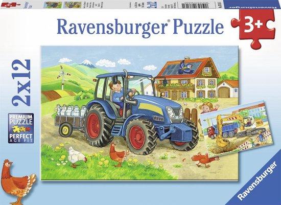 Puzzel Bouwplaats Boerderij 2X12 Stuks