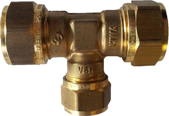 VSH knelkoppeling - T-stuk - 12 x 15 x 12 mm - 5 st