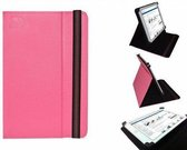 Hoes voor de Yarvik Noble 101ic Tab10 410 , Multi-stand Case, Hot Pink, merk i12Cover