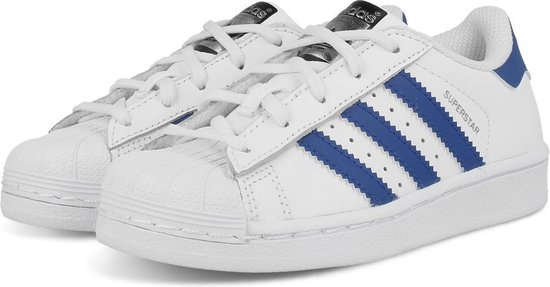 adidas superstar dames wit met blauw