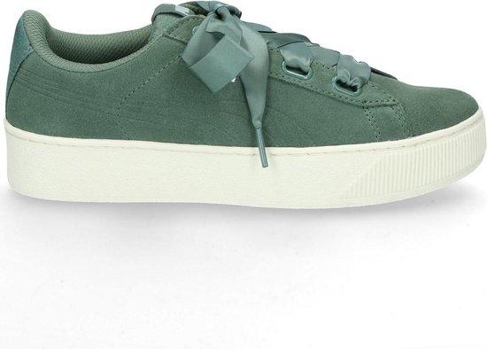 PUMA Vikky Platform Ribbon S Sneakers Dames - Laurel Wreath-Laurel Wreath - PUMA