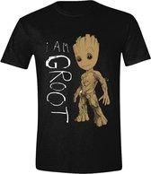 Guardians of the Galaxy - I Am Groot Scribbles Mannen T-Shirt - Zwart - XL