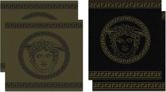 DDDDD Medusa - Thee- en Keukendoeken Set - Bronze - 2 x 2 Stuks