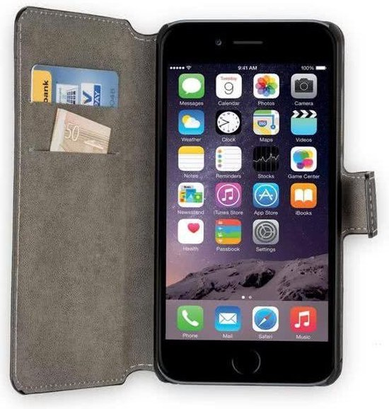 MP Case zwart book case style voor Apple iPhone 7 / 8  wallet case