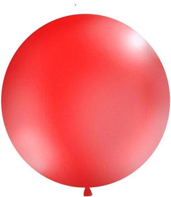 Ballonnen 1m, rond, Pastel rood