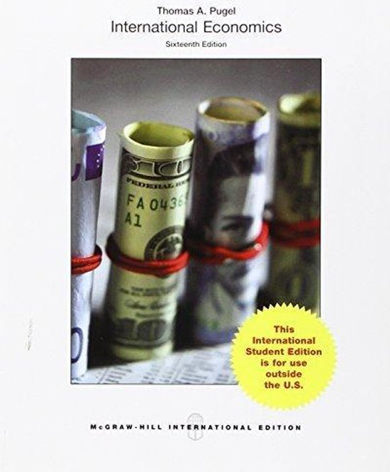 Boek cover International Economics van Thomas Pugel (Paperback)