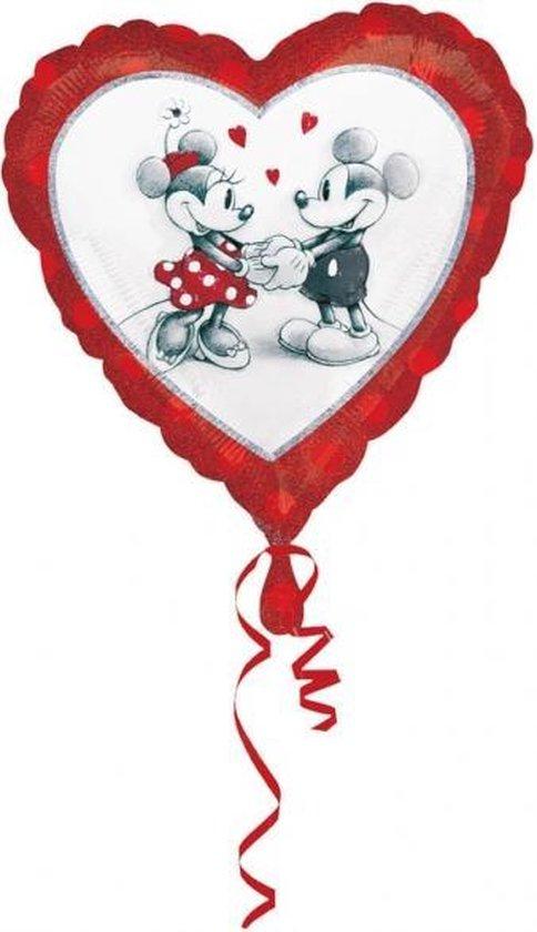Ballon Mickey & Minnie™ hart - Feestdecoratievoorwerp
