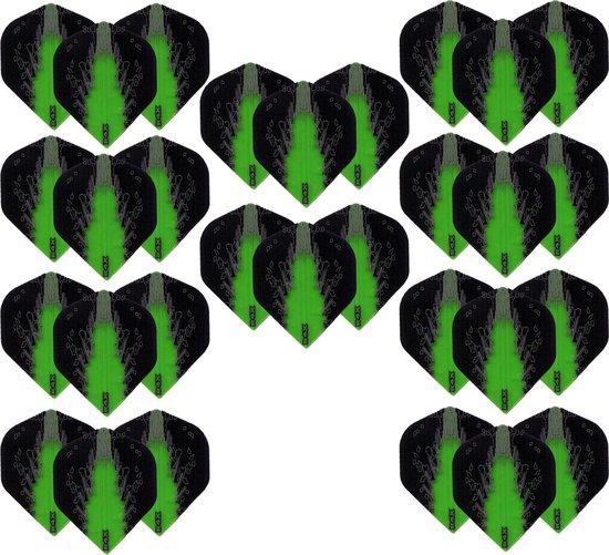 Dragon Darts – High Impact – 10 sets (30 stuks) – darts flights – Best Getest - Groen