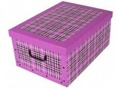 Opbergbox/Opbergdoos fuchsia roze 53 x 38 cm