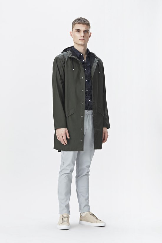 Rains Long Jacket Regenjas Unisex - Maat XS/S - Rains