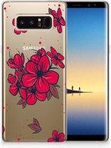 Samsung Galaxy Note 8 TPU Hoesje Design Blossom Red