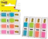 Afbeelding van Post-it® Index Smal, Standaard Dispenser - Helder Blauw, Helder Groen, Oranje, Helder Roze