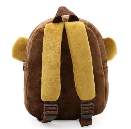 Kinderrugzak aap van zacht pluche - lekker zacht en praktisch | stoere aap schooltas | leeftijd 2-5 jaar | Babygold ® - Babygold