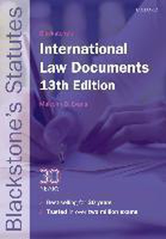 Boek cover Blackstones International Law Documents van Bisset (Paperback)