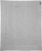 Meyco Knit basic boxkleed - 77x97 cm - grijs melange