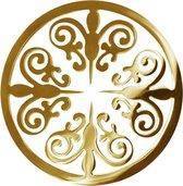 LOCKits 982500679 - Stalen munt - fantasie vlinder - 25-1 mm - goudkleurig