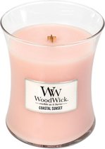 Woodwick Hourglass Medium Geurkaars - Coastal Sunset