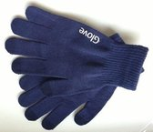Touchscreen Handschoenen iGlove - Gebreid Dikke Kwaliteit - Winterhandschoenen - Heren / Dames - Blauw - Maat M / L