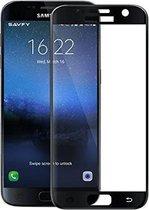 Glazen screenprotector voor Samsung Galaxy S7 (FULL COVER) (ZWART) | Tempered glass | Gehard glas