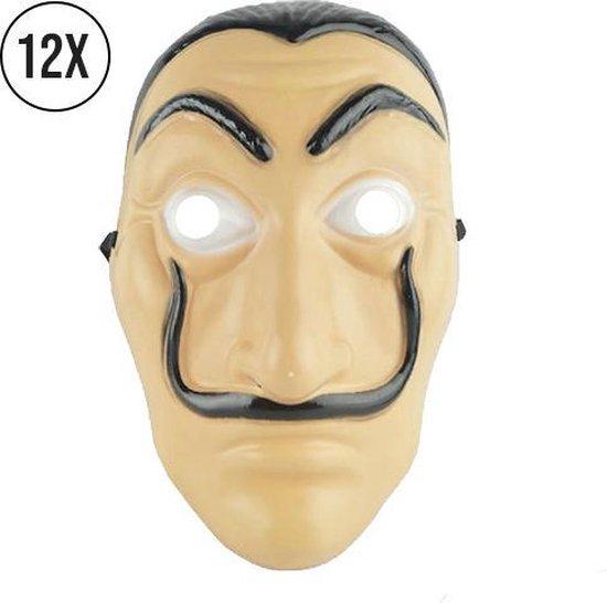 Salvador dali maskers - 12 stuks