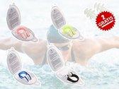 Zwem NeusKlem - Neusclip + 2 Oorbeschermers Gratis - Grijs - semi-doorzichtig