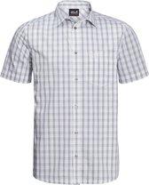 Jack Wolfskin Hot Springs Shirt M Outdoorblouse Heren - White Rush Checks