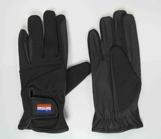 MaChique paardrijhandschoenen zwart met kunstlederen binnenzijde maat M  HT5132