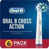 Goedkope Originele 6-Pack Oral B Cross Action Opzetborstels Opzetstukjes | Aanbieding | 6 Opzetborstels