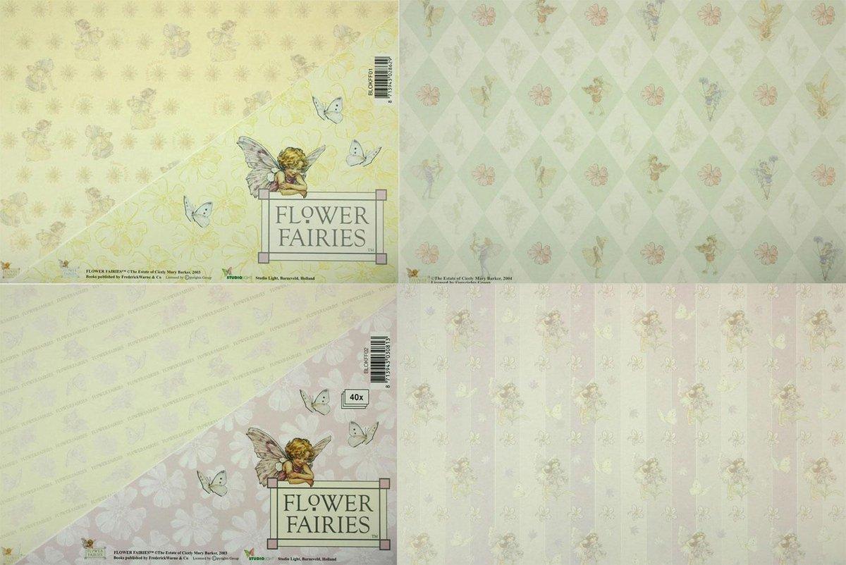 2x Flower Fairies Kaarten Kartonblokken - Om 80 prachtige kaarten of iets anders creatiefs mee te maken