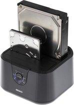 """Deltaco MAP-GD35U3 USB 3.0 Dual Docking station voor 2.5"""" en 3.5"""" SATA schijven - Zwart"""