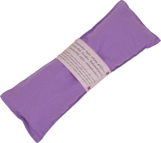 Oogkussen relax lavendel violet - 22x8 cm - 140 g - L