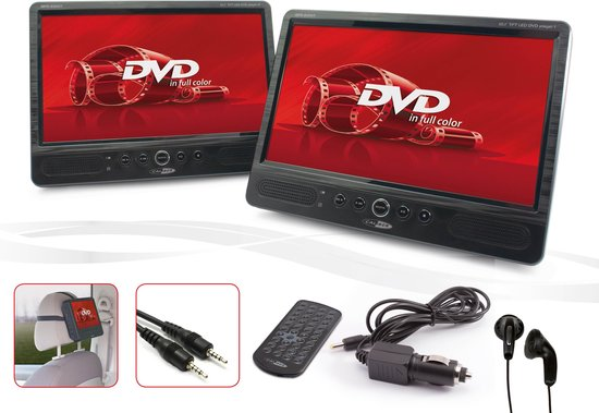 Caliber MPD2010T - Portable DVD speler -2x 10 Inch met 2x DVD speler - Zwart