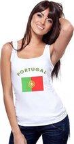 Witte dames tanktop Portugal M