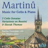 Martinu Works For Cello+Piano