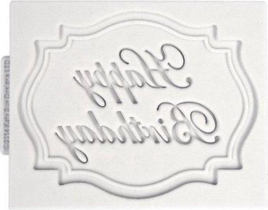 Katy Sue Mould Mini Plaque - Happy Birthday