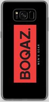 BOQAZ. Samsung Galaxy S8 hoesje - Labelized Collection - Red print BOQAZ
