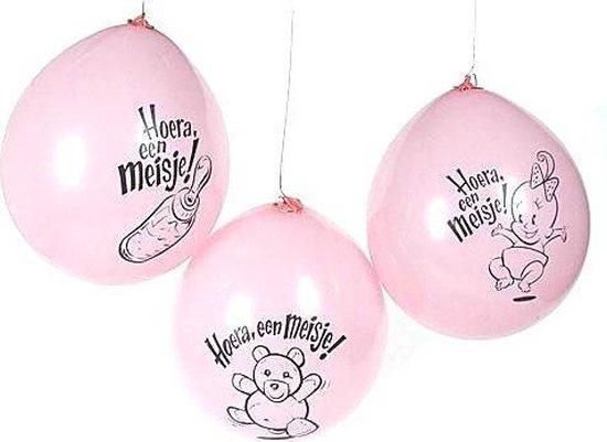 Globos Ballonnen Hoera Meisje 10st
