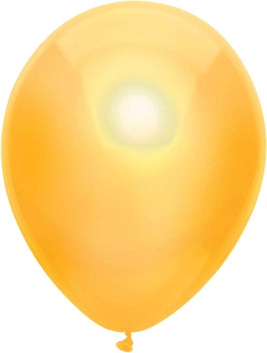 Haza Original Ballonnen Metallic Geel 10 Stuks