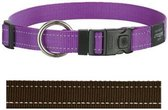 Rogz For Dogs Lumberjack Hondenhalsband - 25 mm x 43-73 cm - Choco