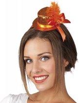 Haarband met oranje glitter hoedje