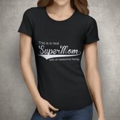 Supermom Tshirt | Zwart | Medium
