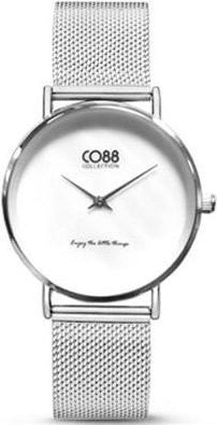 CO88 Collection 8CW-10051 – Horloge – mesh – zilverkleurig – ø 32 mm