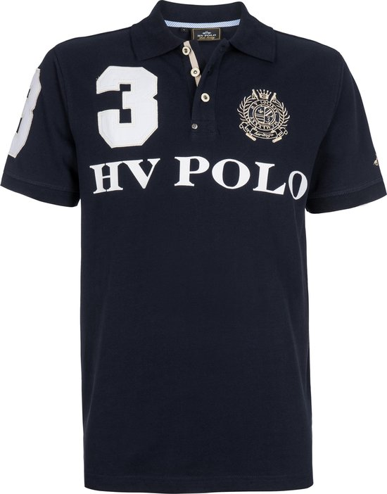 HV Polo Favouritas EQ SS - Heren Poloshirt - Navy - XXL