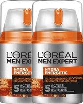 L'Oréal Paris Men Expert Hydraterende Gezichtscrème - 2 x 50 ml