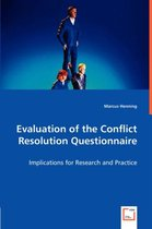 Evaluation of the Conflict Resolution Questionnaire