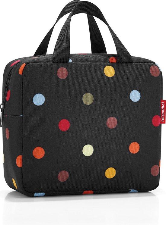 Reisenthel Foodbox ISO S Koeltas Lunchtas - Polyester met aluminium binnenvoering - Maat S - 4 L - Dots Zwart;Multi Kleur