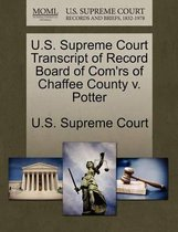 U.S. Supreme Court Transcript of Record Board of Com'rs of Chaffee County V. Potter