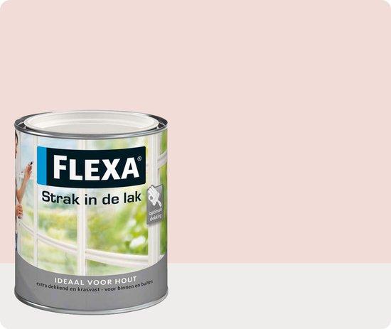 Flexa Strak In De Lak Hoogglans - Zacht Roze - 0,75 liter