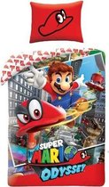 Super Mario Odyssey Dekbedovertrek - 140x200 - Katoen