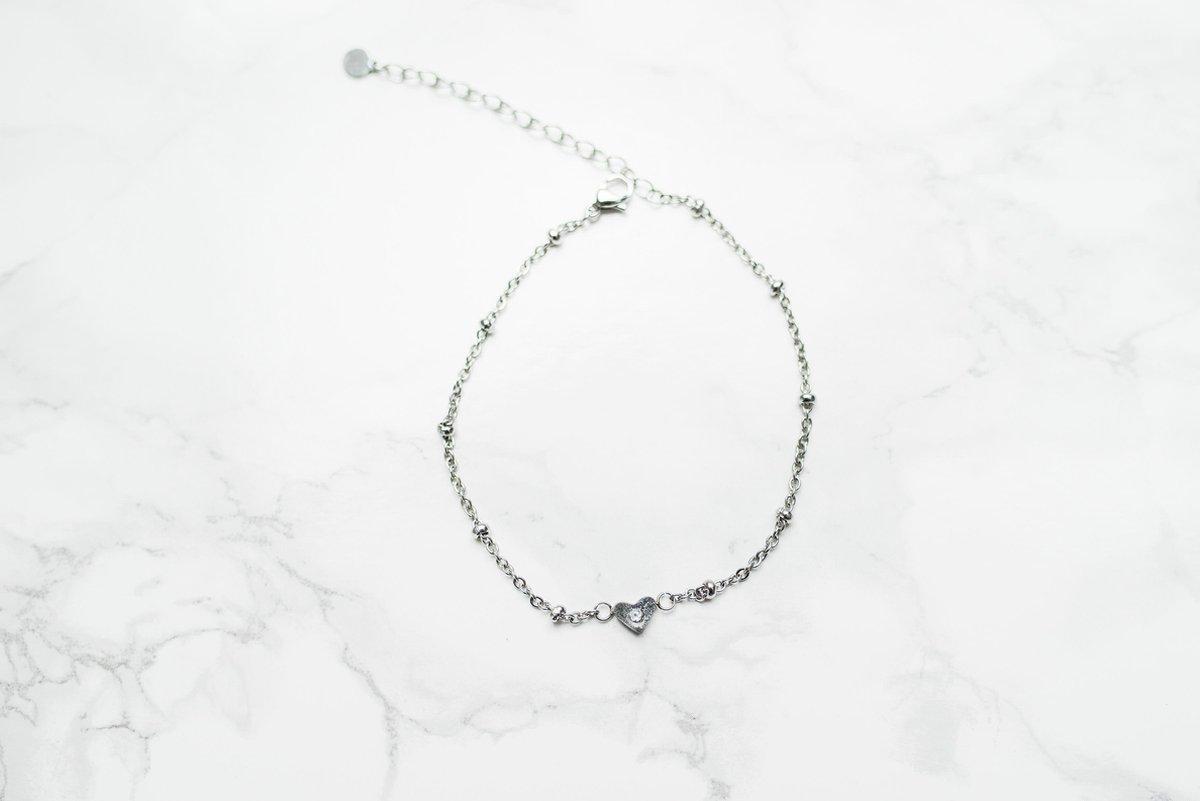 Yolora enkelbandje - Swarovski kristal - Zilver kleurig - Dames - YO-142-E-J - Yolora